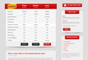 Webpage Templatedesign für derHoster Webhosting