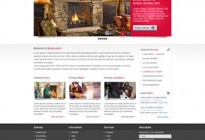 Webpage Templatedesign für Kamin Wien