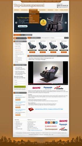 Webpage Templatedesign für Top-Massagesessel