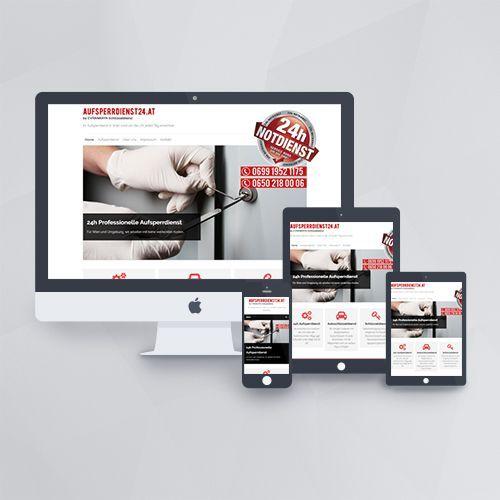 Webdesign - Webseite für Aufsperrdienst24 mit WordPress