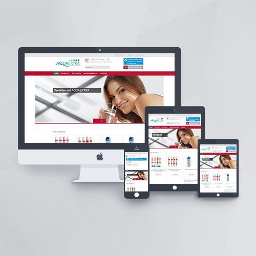 Webdesign - Webseite für Aquaextra mit WordPress und JigoShop