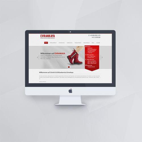 Webdesign - Webseite für Evrankaya Schuh und Schlüsseldienst mit WordPress