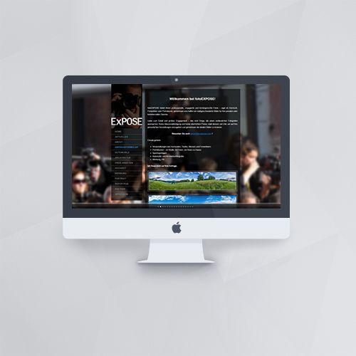 Webdesign - Webseite für foto EXPOSE mit WordPress