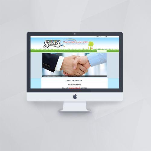 Webdesign - Webseite für Buntersand mit WordPress und WooCommerce