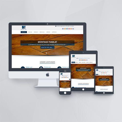 Webdesign - Webseite für Montage Team mit WordPress