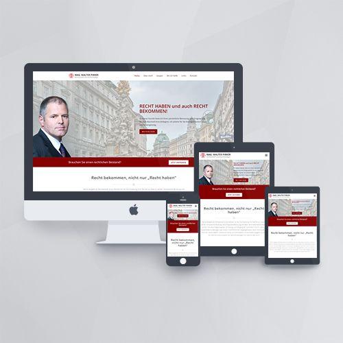 Webdesign - Webseite für den Anwalt Walter Pirker mit WordPress