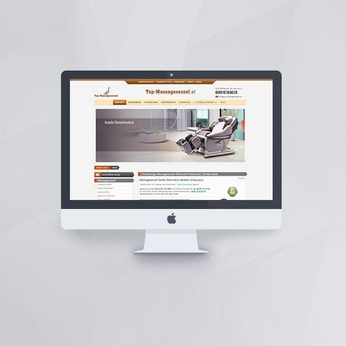 Webdesign - Webseite für Top Massagesessel mit Joomla