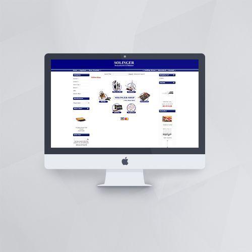 Webdesign - Webshop für Solinger mit os:commerce