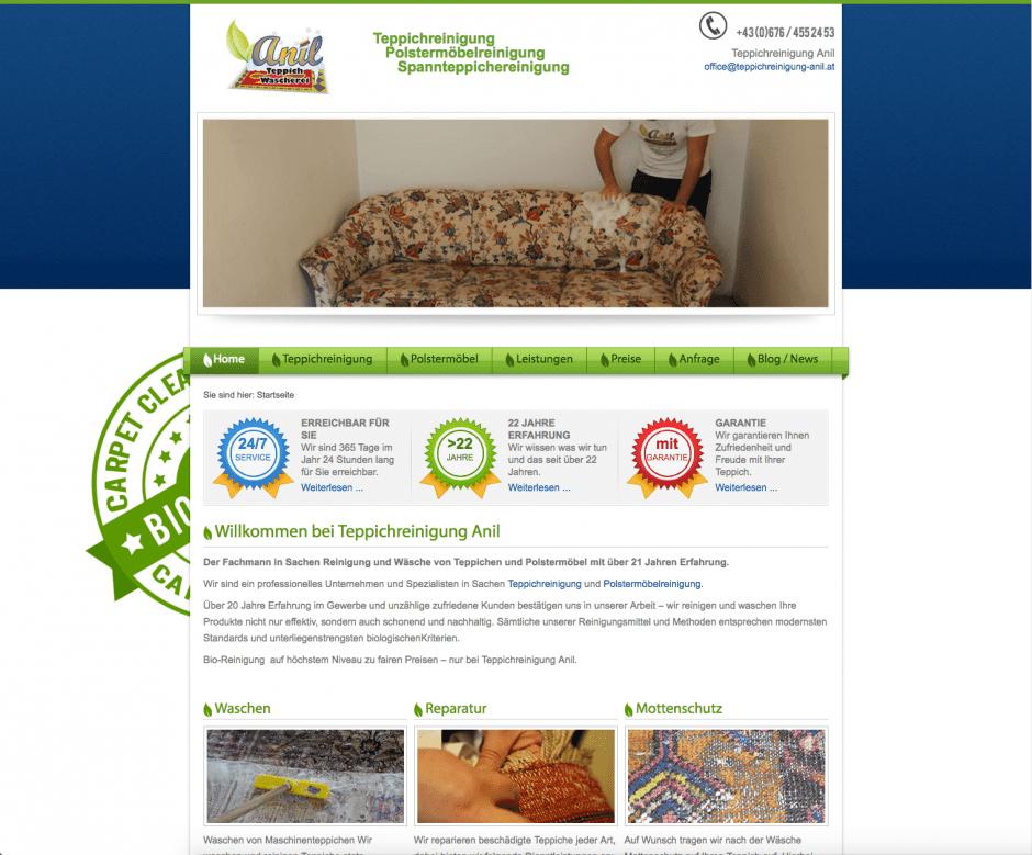 Webseite mit Joomla