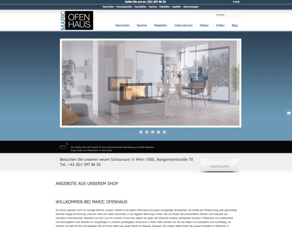 Ofenhaus Maric Homepage