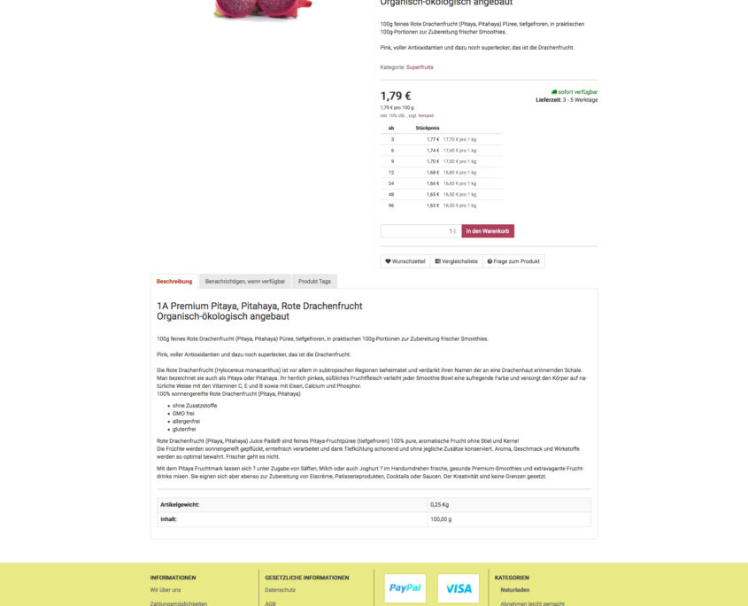 Asai JTL Shop - Produktpage