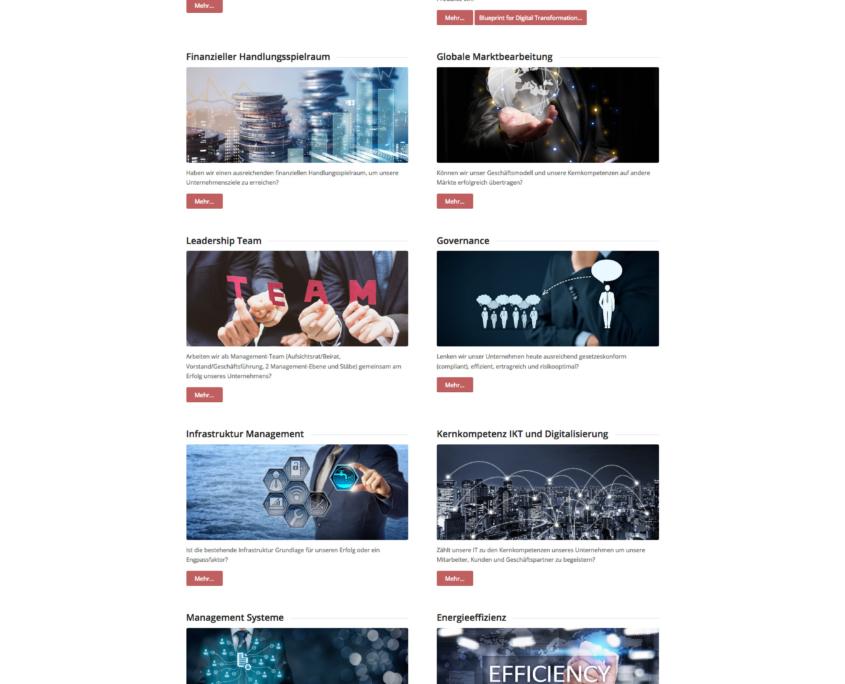Webpage BTM Holding GmbH - Themen